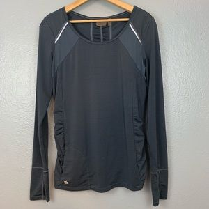 Athleta Hurdle Long Sleeve Workout Top in Gray